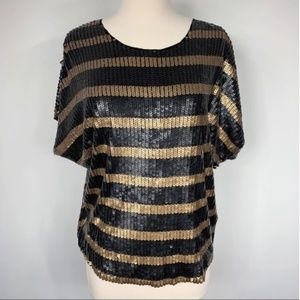 NWT Joe's Jeans Sequins Striped Blouse